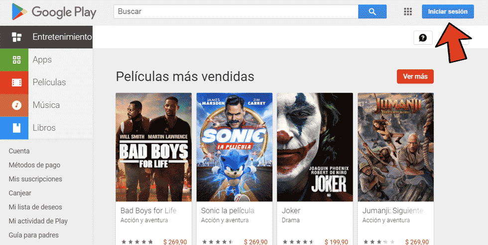 Iniciar sesion Play Store PC